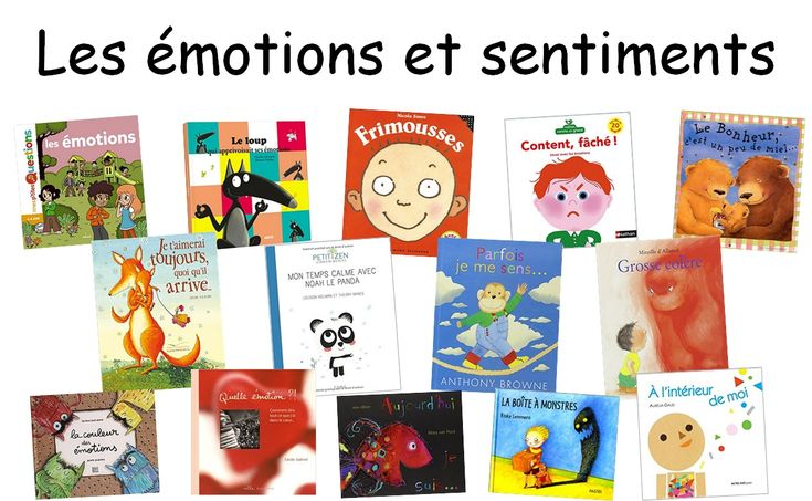 French books about feelings and emotions | Albums sur les émotions et sentiments