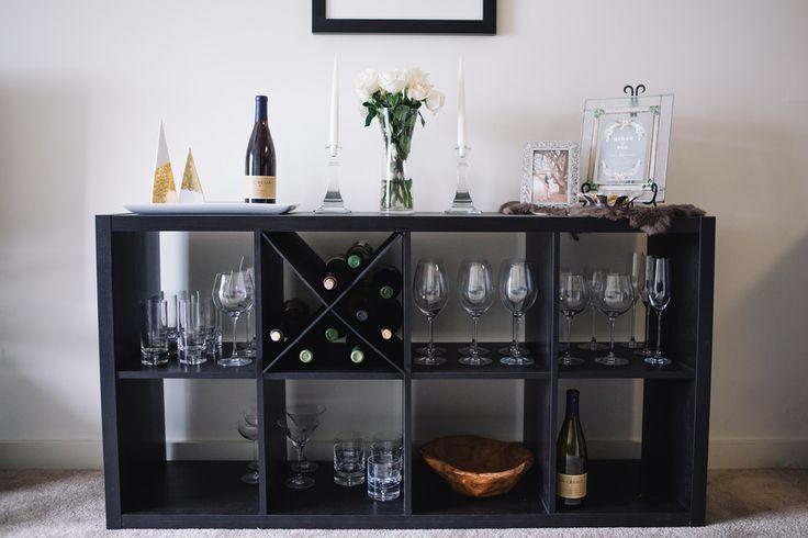DIY IKEA Hack: X-Shelf Wine Rack