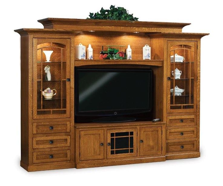Amish Manhattan Mission Classic Entertainment Center The Manhattan is everything you're looking for in a home entertainment center.