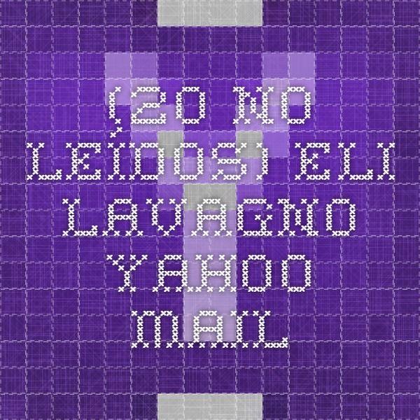 (20 no leídos) - eli.lavagno - Yahoo Mail