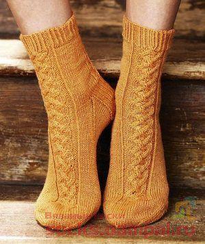 56 вязаные носки с манжеты