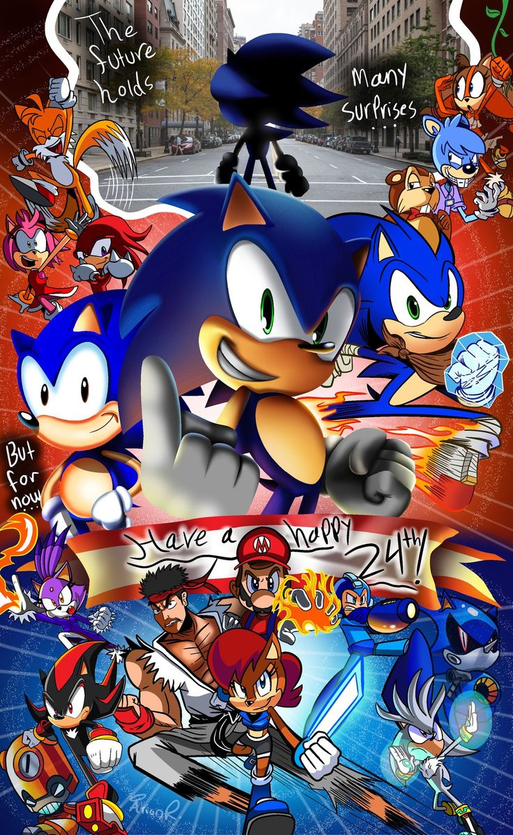 how to draw sonic and friends wii version