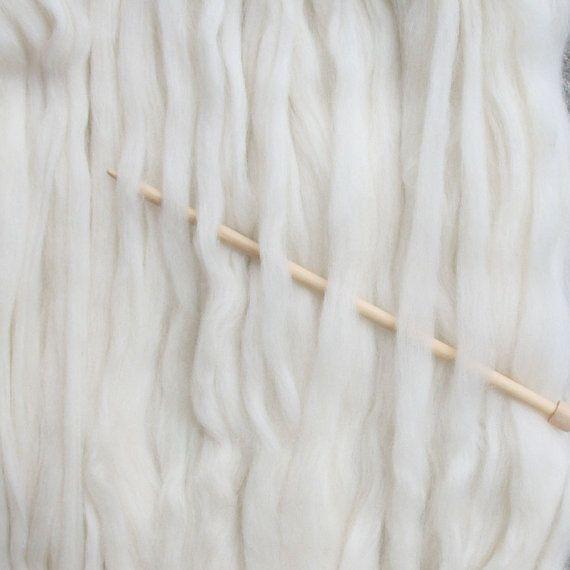 Natural Curly KID MOHAIR LOCKS for all wool por LivingDreamsYarn