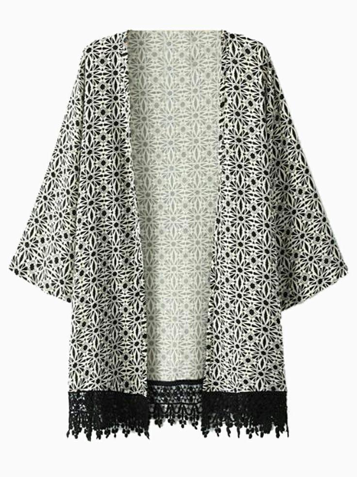 Kimono jacket + singlet + denim/maxi skirts/shorts + sandals/boots/wedges  I actually own this kimono jacket .
