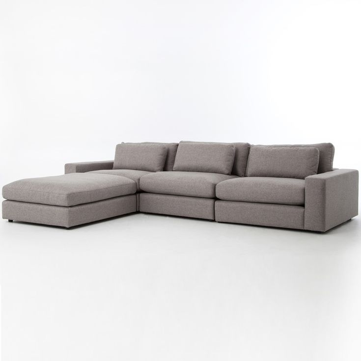 Bloor Gray Contemporary 4 Piece Sectional Sofa | Zin Home