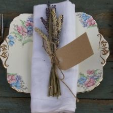 Lavender and Wheat Napkin Posy 10