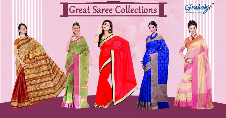 """Gear up for """"The Day"""" dedicated to all the lovely ladies with our collection of Sarees you will cherish what you really are. Up to 8% off on Sarees. Limited offers! Hurry Up! #Sarees #WomenDay #IWD2017 #SilkSaree #online #shopping"""
