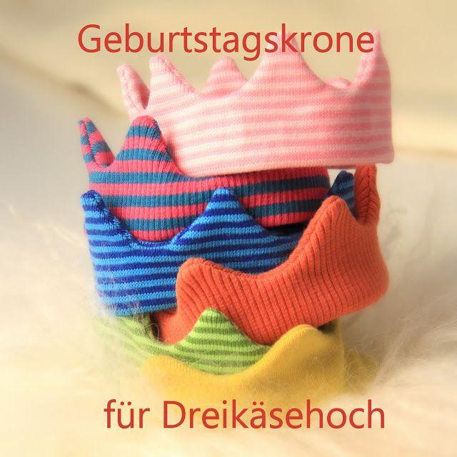 Barbaras Blumenkinder und Puppen Welt: DREIKÄSEHOCH FEIERT GEBURTSTAG #7 Geburtstagskrone...