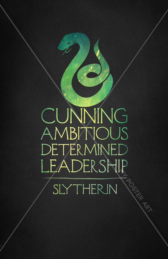 Harry Potter Slytherin 11x17 18x24 or 24x36 Movie by MyPosterArt