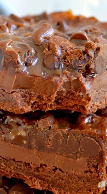 Chocolate Chocolate Chip Gooey Bars