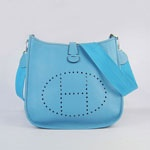 Hermes Evelyne Bag Blue 6309   $198.00
