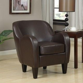 Bedford Bonded Leather Chair (.), Brown (Fabric)