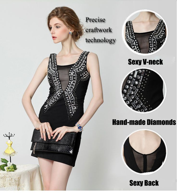 Aliexpress.com : Buy Great Spring Elegant Sexy Ladies Slim Fit Diamonds Contrast Split Mesh A Line V Neck Sleeveless Knee Length Black Dress in 2014 from Reliable ladies england suppliers on Silverwings | Alibaba Group