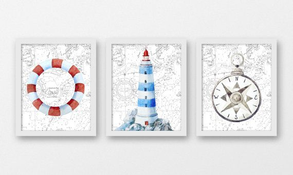Lighthouse Nautical Bathroom Accessories: 17+ Ideas About Lighthouse Bathroom On Pinterest