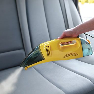 The Only Handheld Wet/Dry Steam Vacuum from Hammacher Schlemmer  GREAT for pet messes in the car