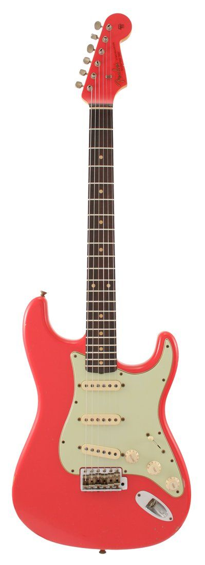 Fender Electric Guitar Custom Shop 2011 NAMM 1960 Stratocaster Relic Fiesta Red | Rainbow Guitars