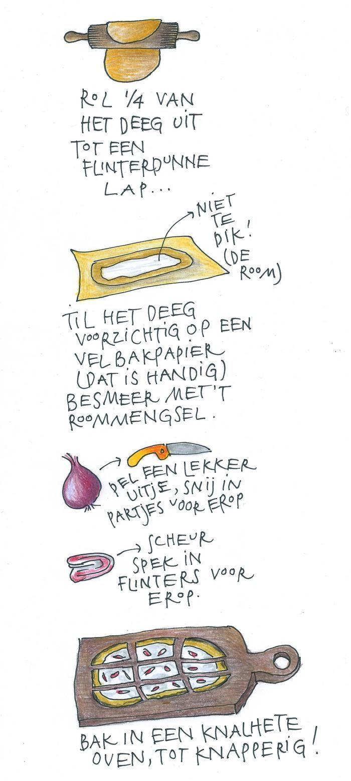 Kookboekenmaker, illustrator en kok Yvette van Boven maakt elke week een gerecht in de oven. Deze week: flammkuchen