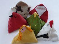 Karácsonyi mini babzsákok