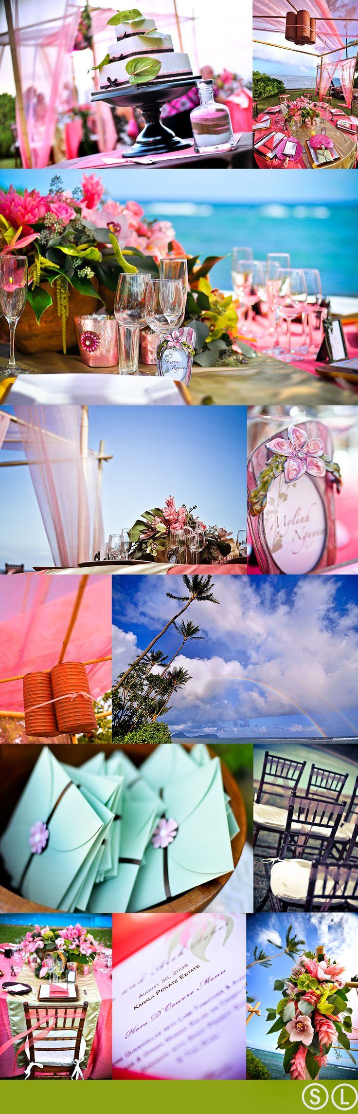 Hawaii outdoor wedding with a perfect mixture of Aloha Spirit!