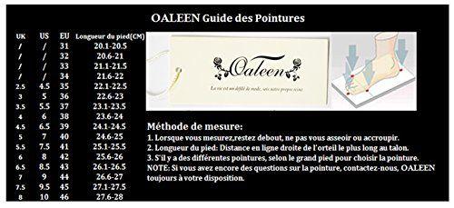 OALEEN Bottines Fourrées Classique Lacets 2 styles Chaussures Talons Hauts Epais Boots Hiver Femme