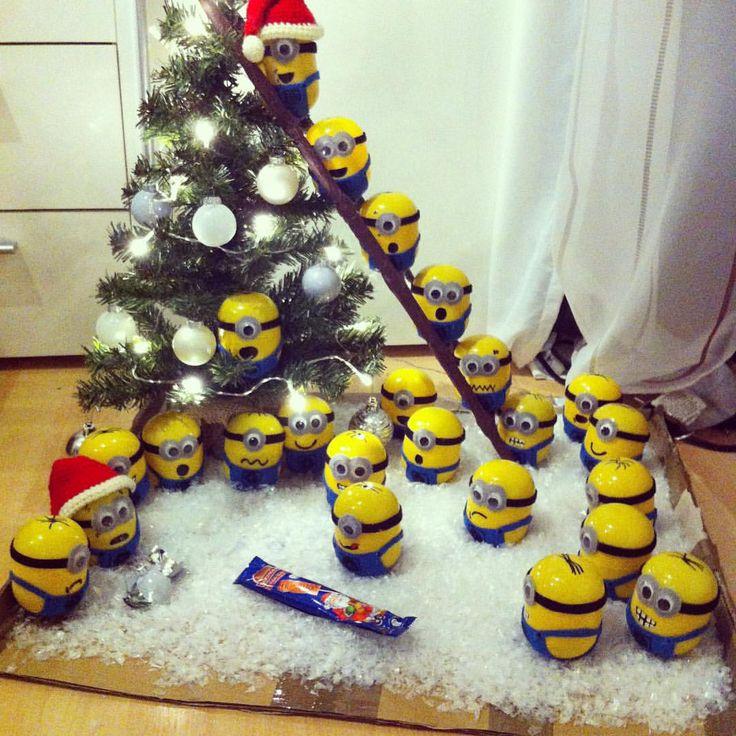 Minions Adventskalender   Sieh dir dieses Instagram-Foto von @bunte_bastelwerke_ an • Gefällt 74 Mal