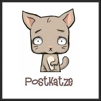 Deponia - Postkatze Free Paper Toy Download