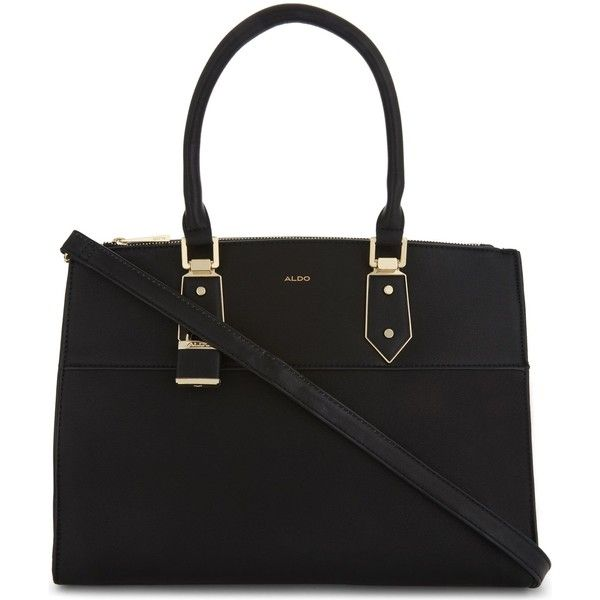 Aldo Retriever faux-leather tote ($63) ❤ liked on Polyvore featuring bags, handbags, tote bags, shoulder strap purses, vegan tote bags, faux leather tote handbags, purse tote bag and aldo tote bags