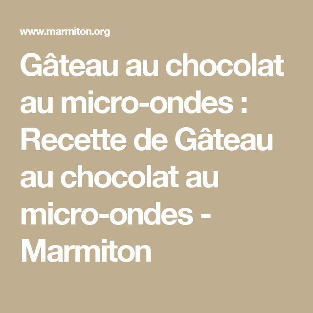 Marmiton gateau magique au chocolat