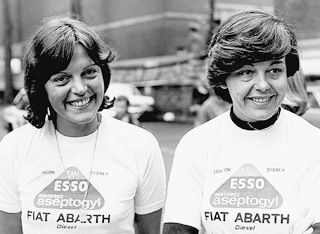Yveline Vanoni and Christine Dacremont in 1977