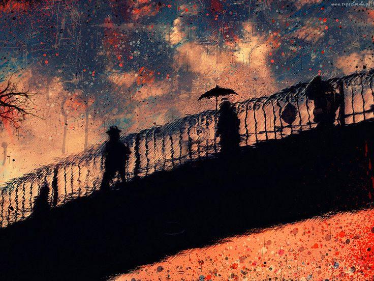Obraz, Most, Ludzie