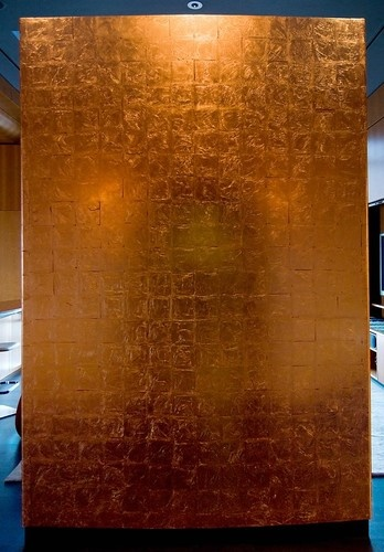 Copper Leaf Gilded Wall For The Home In 2019 Design