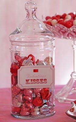 kiss jar - I'm going to make my kids give me a kiss if they want a hershey's kiss...haha...kiss for a kiss.
