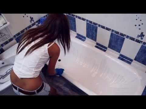 """▶ Реставрация ванны """"Наливным акрилом PlastAll"""" (актуальная технология 2013) - YouTube"""