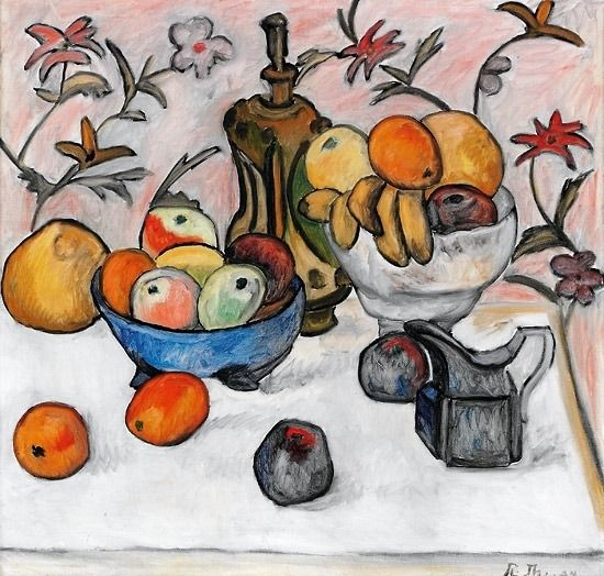Rudolph  Thygessen - Carafe and Fruit, 1924