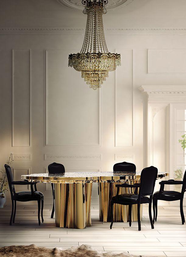 Boca do Lobo | Dining room sets: dining room chairs with dining room table and dining room lamps suspended. Beautiful dining room ideas | See more at diningroomideas.eu