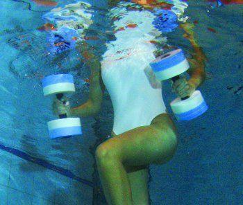 Water Aerobics Dumbbell Medium Aquatic Barbell Aqua Fitness Pool Exercise 6013 | eBay