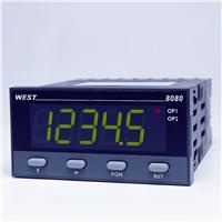 WEST 8080 1-8 DIN Dual Colour Indicator    -  Large Five Digit Display  -  Colour Change on Alarm  -  Min/Max Value Hold  -  2 Process Alarms  -  Security Lock