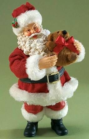 2010 CLOTHTIQUE BEAR-Y CHRISTMAS SANTA W/PLUS BEAR, NIB picclick.com