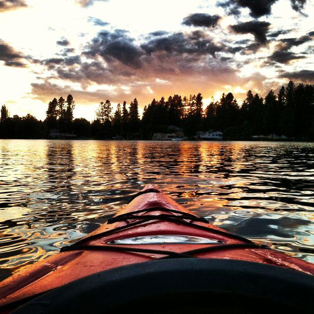 Kayaking Lake Coeur d'Alene, Idaho
