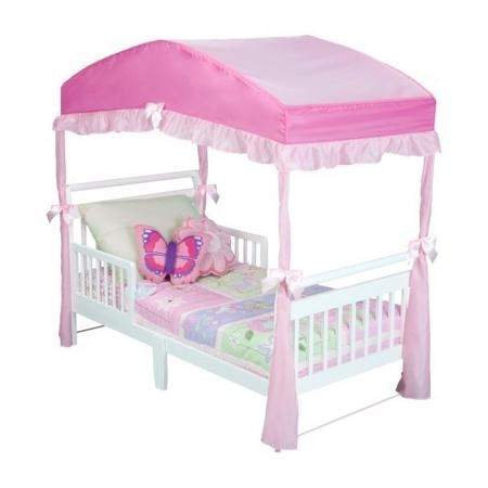 Canopy Frame: Delta Girls Toddler Bed Canopy - Pink