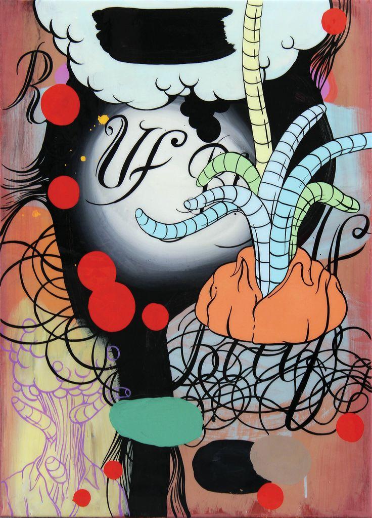 Enric Font ha ido sorprendiéndonos, a lo largo de su bitácora creativa, con entregas plásticas donde despliega ucronías admonitorias no exentas de humor. Sus composiciones all-over destilan una estética retrofuturista inspirada en el cine de serie B y las revistas pulp.