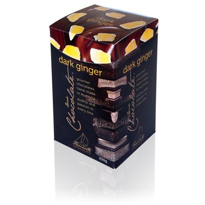 Dark Chocolate Ginger 250g Box