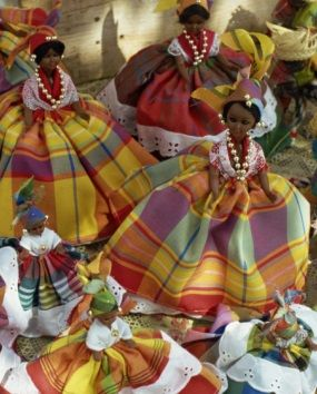 Dolls in Martinique Dress, Fort De France, Martinique ~ would make a cute souvenir for a young girl! #AccorVacation
