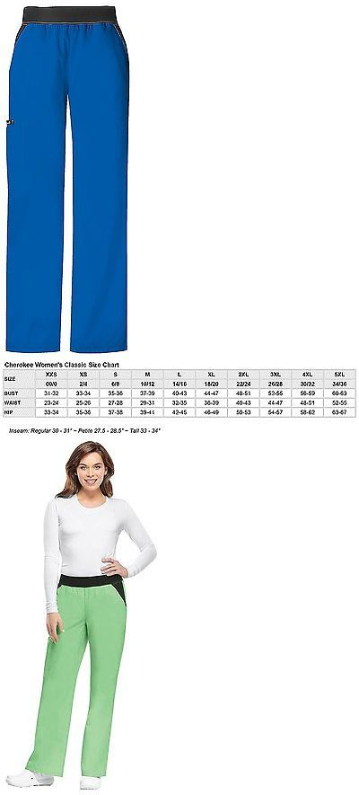 Bottoms 105422: Cherokee Women S Flexibles Contrast Mid Rise Knit Waist Pull-On Pant, Royal, -> BUY IT NOW ONLY: $36.66 on eBay!