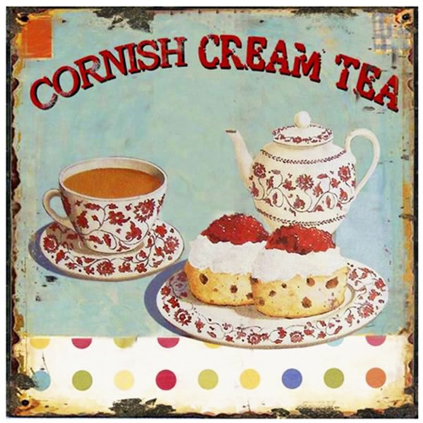 Lovely Cornish Cream tea sign - always on the menu at The Rosevine! http://www.rosevine.co.uk/restaurant-rosevine-cornwall/