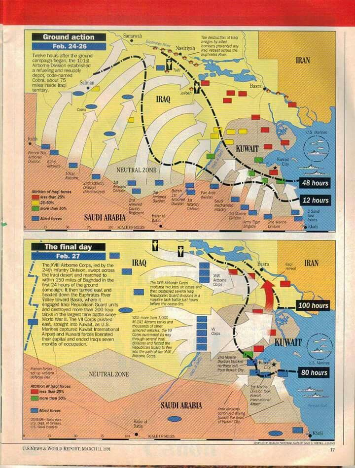 Operation Desert Storm. The Gulf War (8/2/1990 – 2/28/1991), codenamed Operation Desert Shield (8/2/1990 – 1/17/1991) for operations leading to the buildup of troops and defense of Saudi Arabia and Operation Desert Storm (1/17/1991 – 2/28/1991) in its combat phase, was a war waged by coalition forces from 35 nations led by the United States against Iraq in response to Iraq's invasion and annexation of Kuwait. (V)