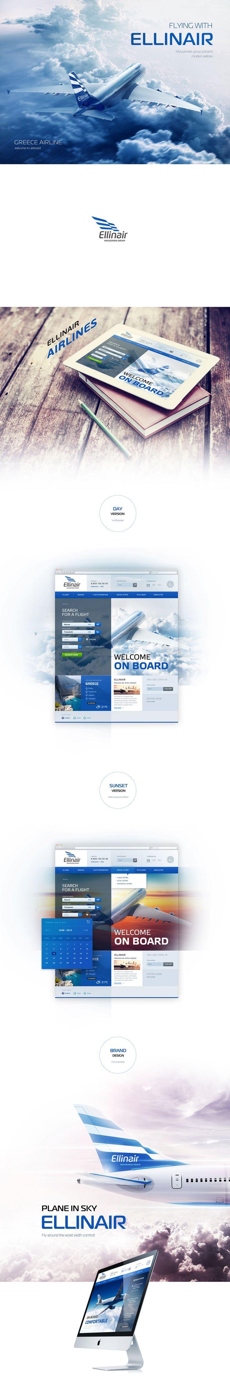 Ellinair Airlines on Behance