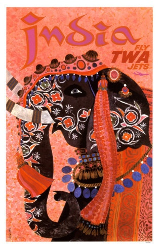 i would love to find a vintage India travel poster