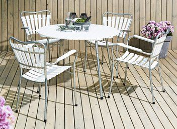 Bord TRIVENTO Ø105cm+4 stole TRIVENTO   JYSK
