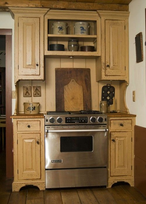 25 best ideas about primitive kitchen cabinets on for Reproduction kitchen cabinets